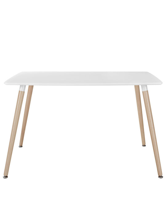 White Ombre Wood Rectangle Dining Table 2