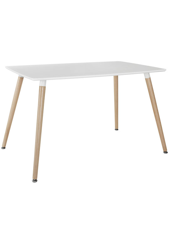 White Ombre Wood Rectangle Dining Table