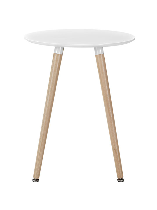 White Ombre Wood Side Table 2