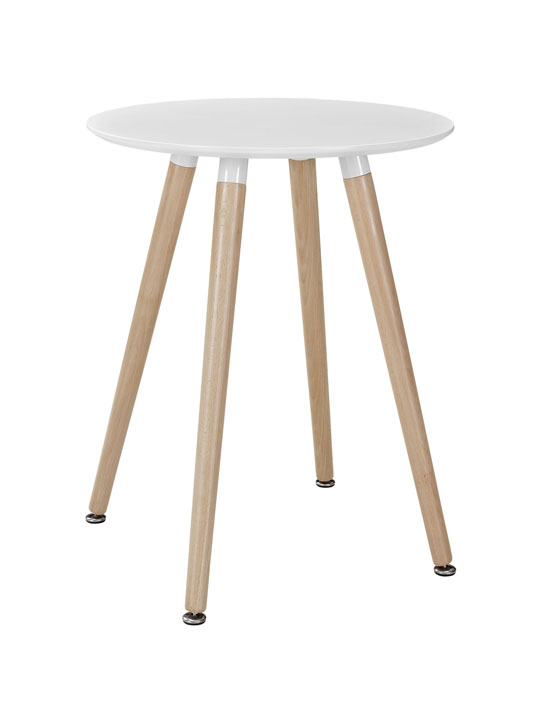White Ombre Wood Side Table