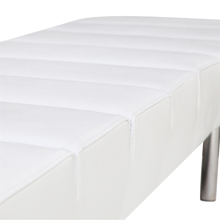 White Paragon 3 Seater Bench 4
