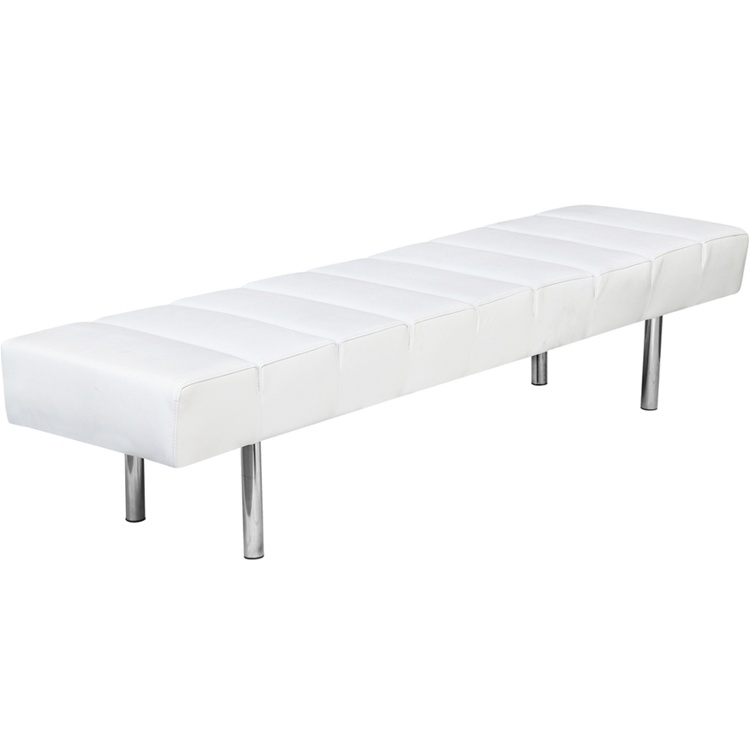 White Paragon 3 Seater Bench