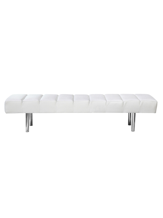 White Paragon 3 Seater Bench1