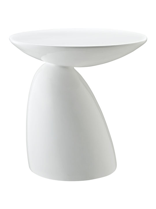 White Pebble Side Table 2