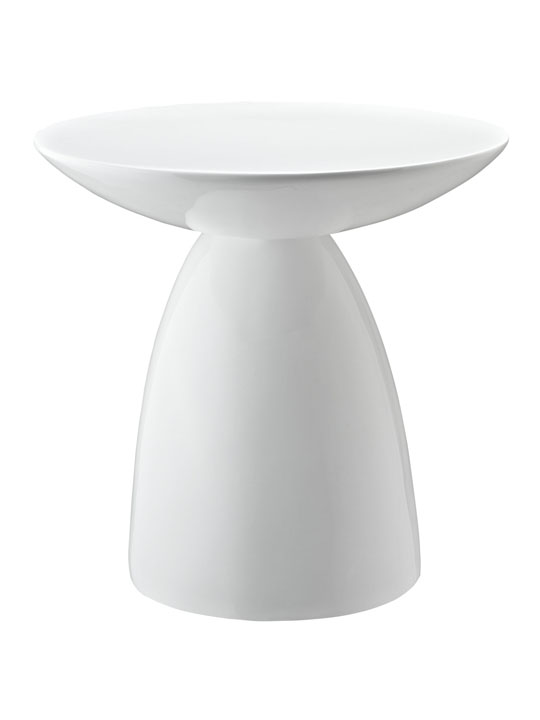 White Pebble Side Table 3