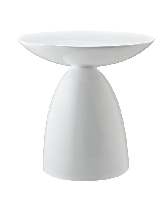 White Pebble Side Table