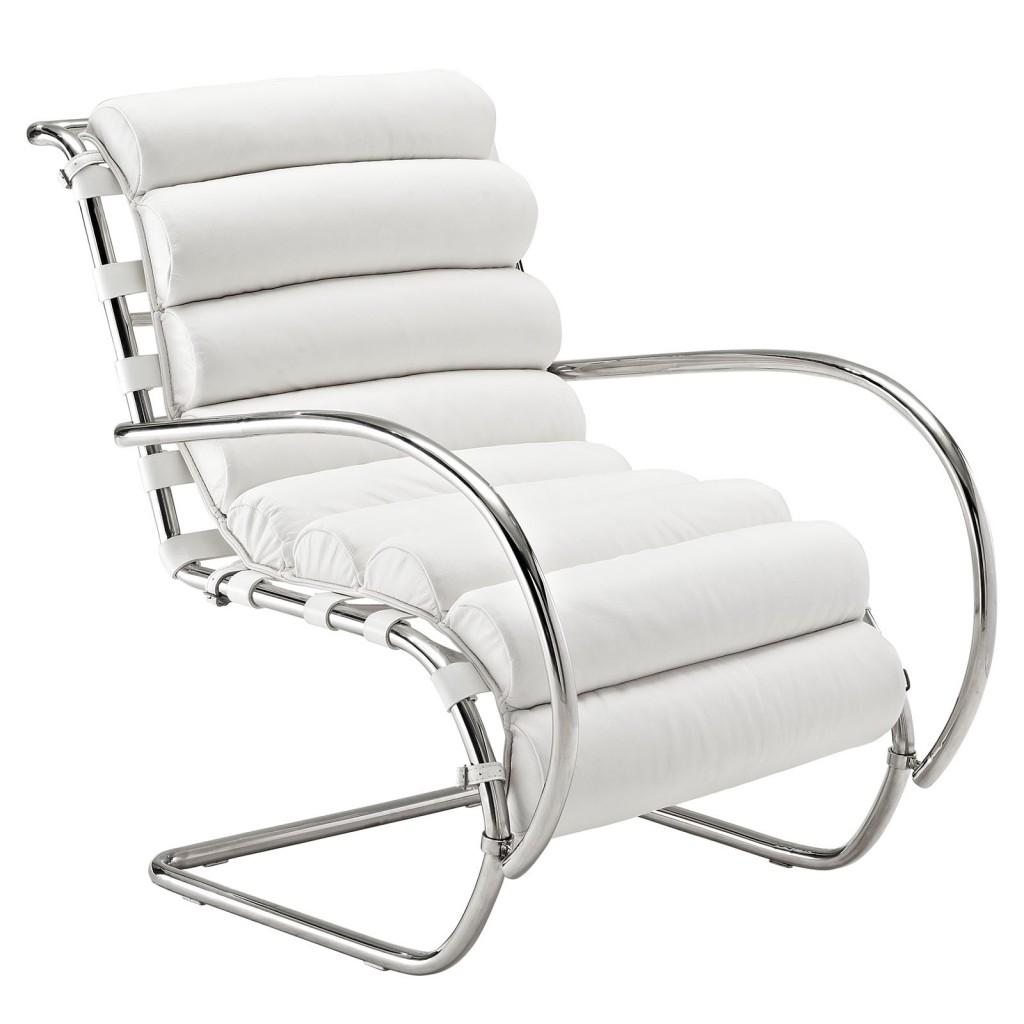 White Plush Armchair