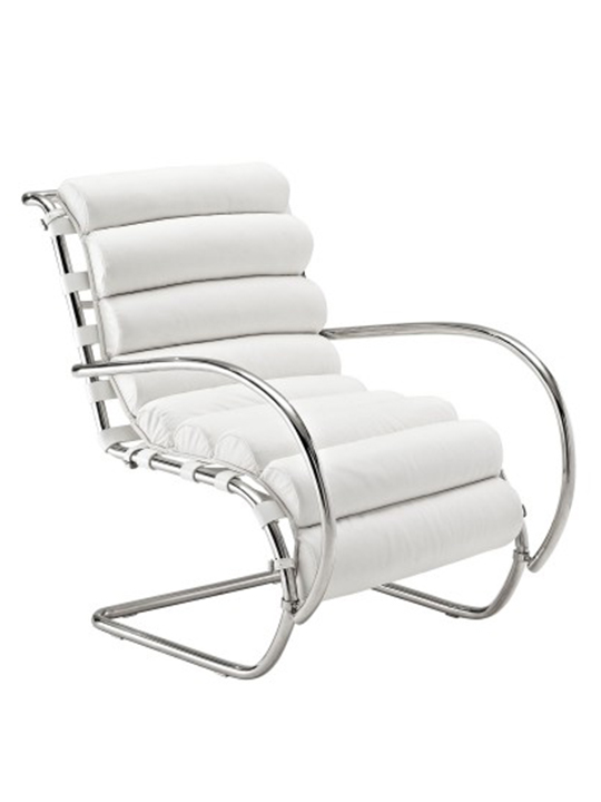 White Plush Armchair1