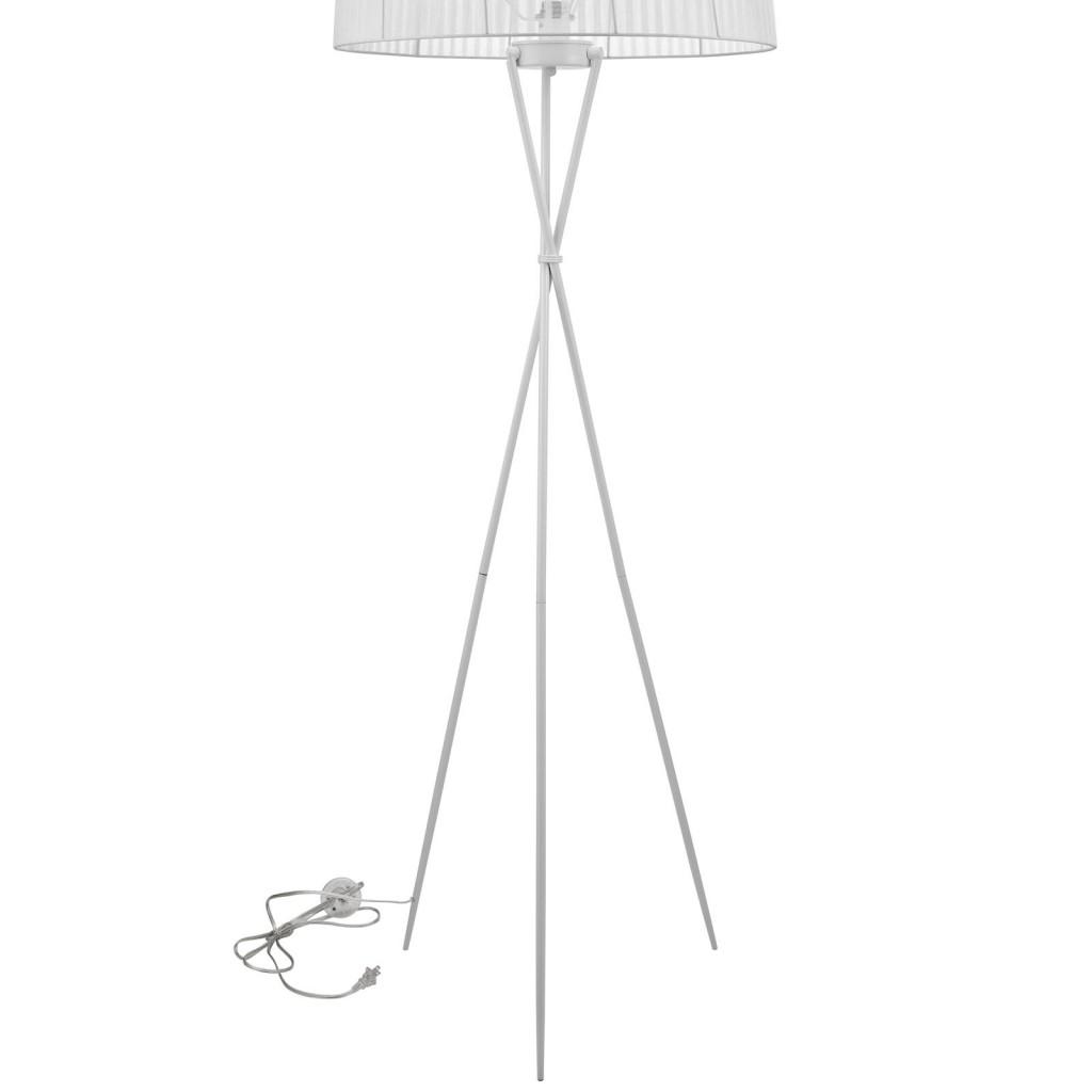 White Silk Floor Lamp 3
