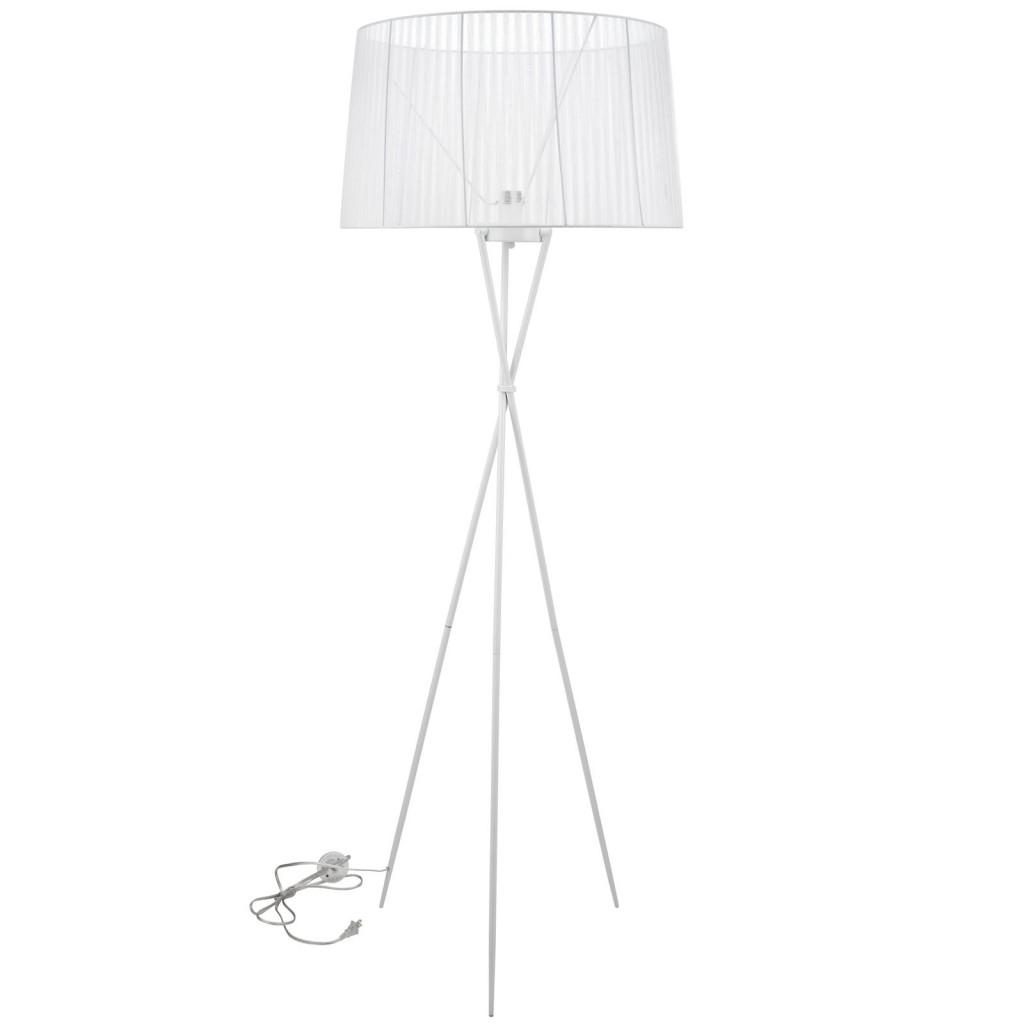 White Silk Floor Lamp