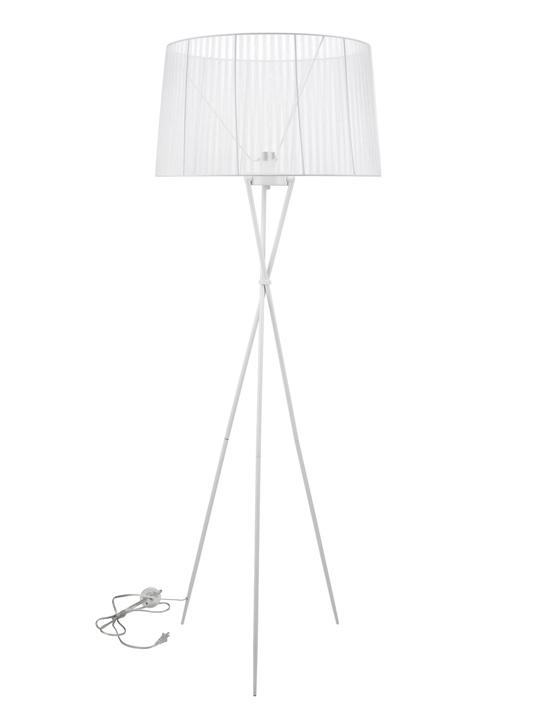 White Silk Floor Lamp1