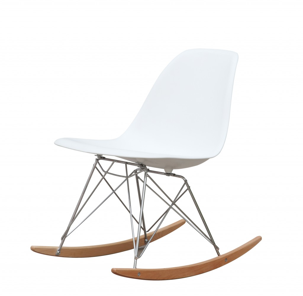 White Solo Rocking Chair 2