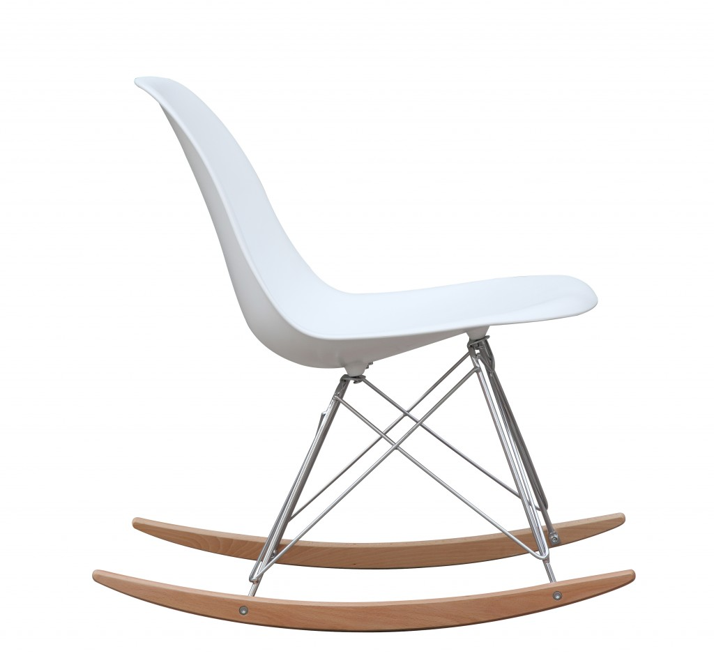White Solo Rocking Chair 3