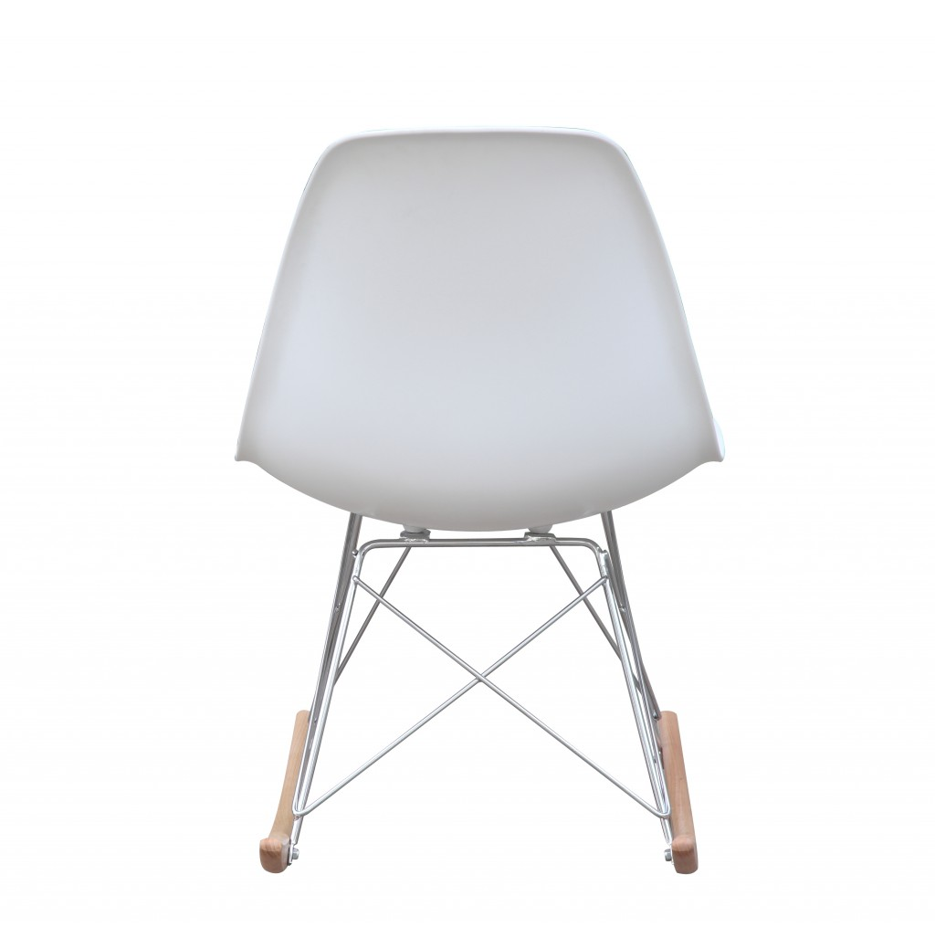 White Solo Rocking Chair 4