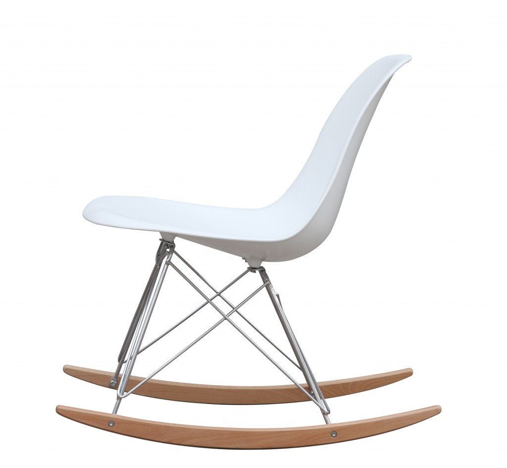 White Solo Rocking Chair 5