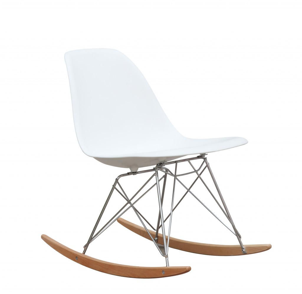 White Solo Rocking Chair