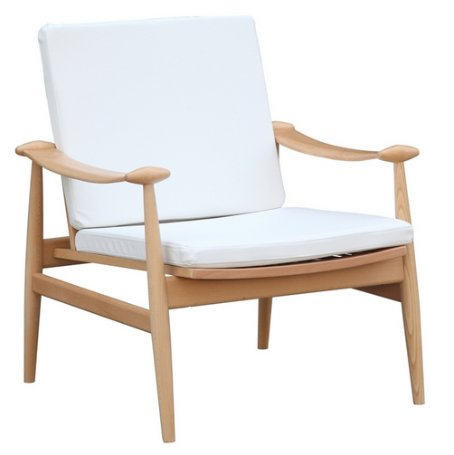 White Zealand Lounge Chair