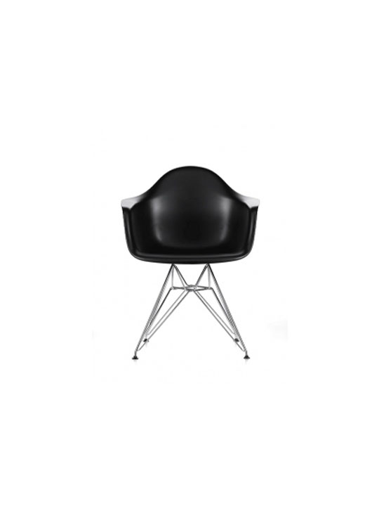 Wire Chrome Chair Black