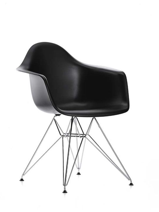 Wire Chrome Chair Black 2