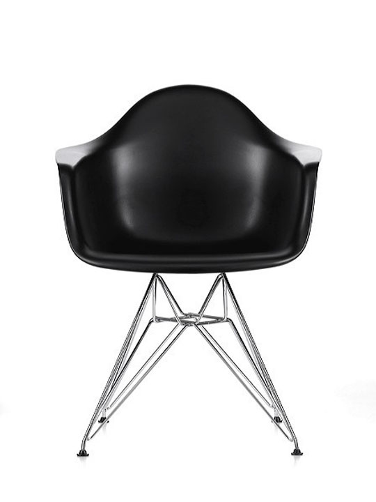 Wire Chrome Chair Black 3