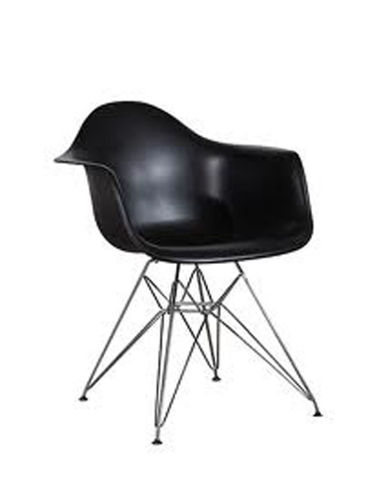 Wire Chrome Chair Black 4