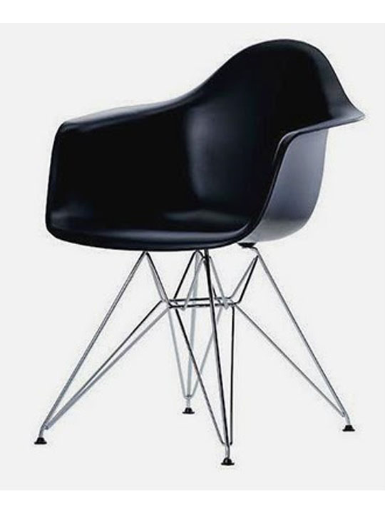 Wire Chrome Chair Black 5