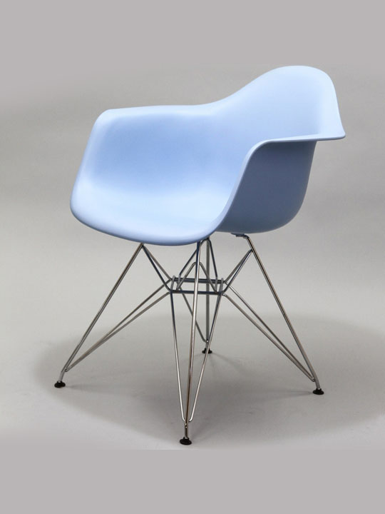 Wire Chrome Chair Blue 1
