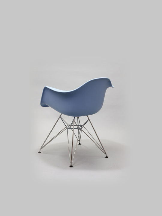 Wire Chrome Chair Blue 4