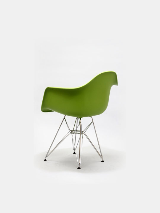 Wire Chrome Chair Green 3