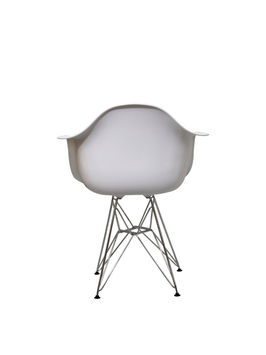 Wire Chrome Chair White 2