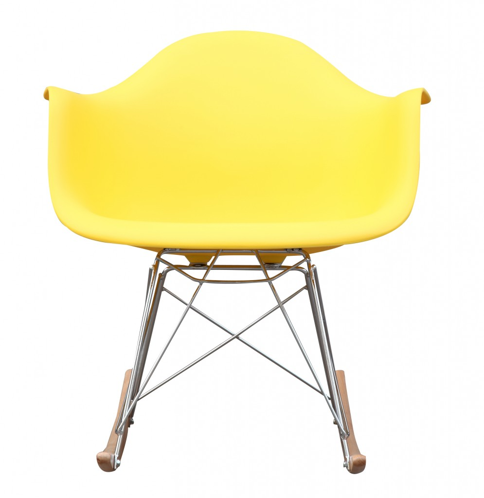 Yellow Mid Century Rocking Chait Dock Rocker 2