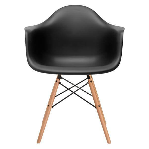 black wood chair