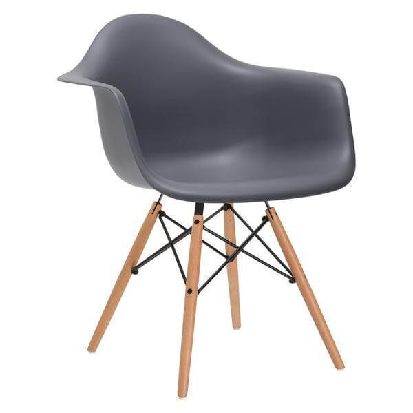 ceremony wood armchair grey