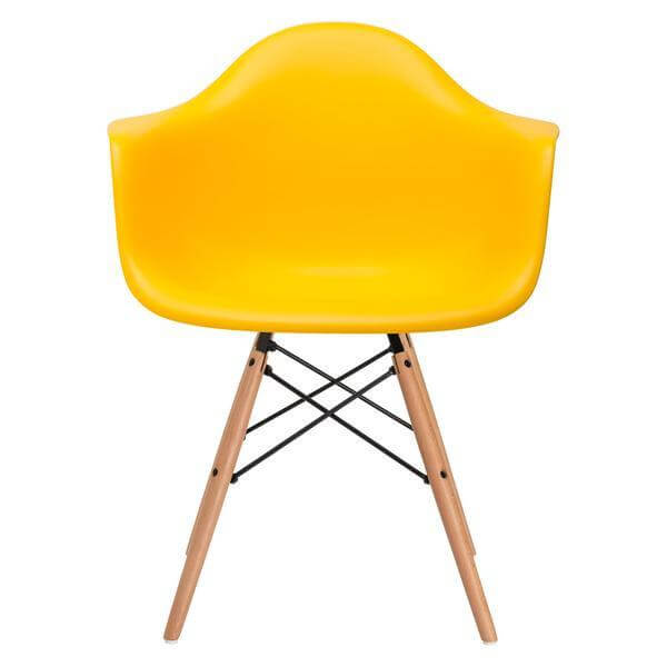 ceremony wood armchair yellow 2