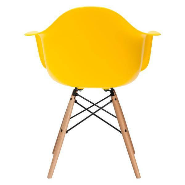 ceremony wood armchair yellow