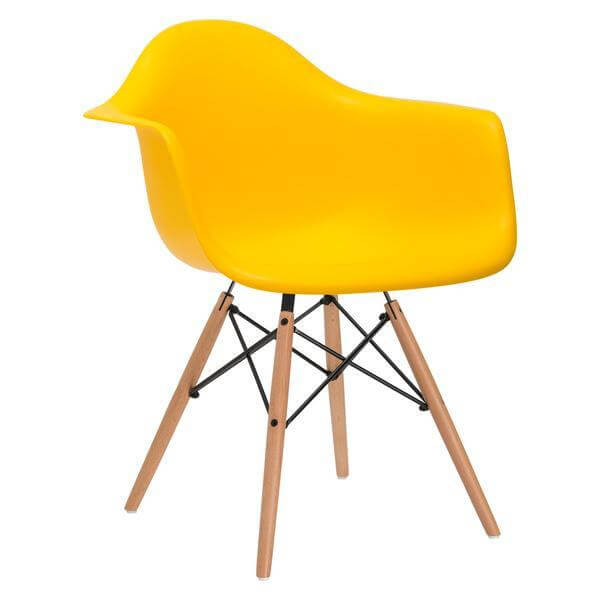 eames yellow armchair