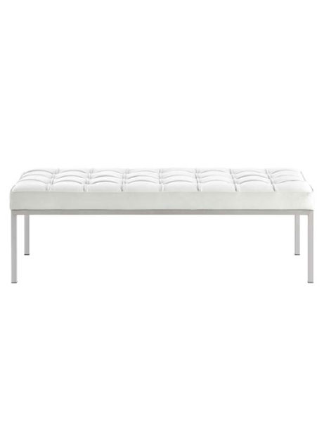 gallery 3 seater bench white 461x615