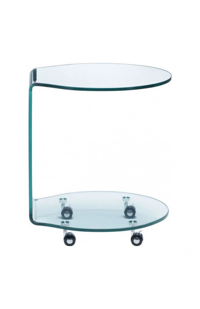 glass rolling cart