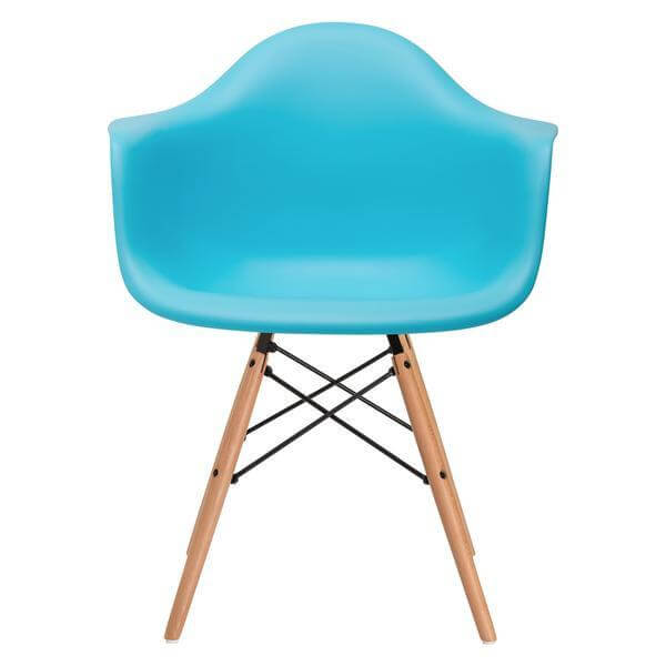 modern blue dining chair