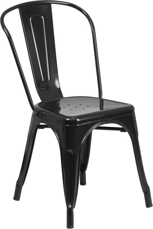 modern cafe chair black