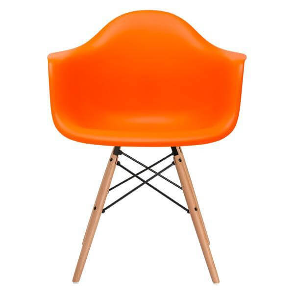modern orange eames chair