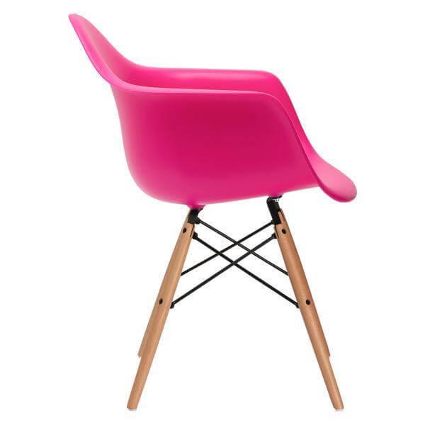 modern pink wood chair