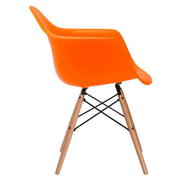 orange armchair modern