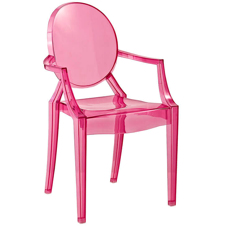 pink kids throne chair