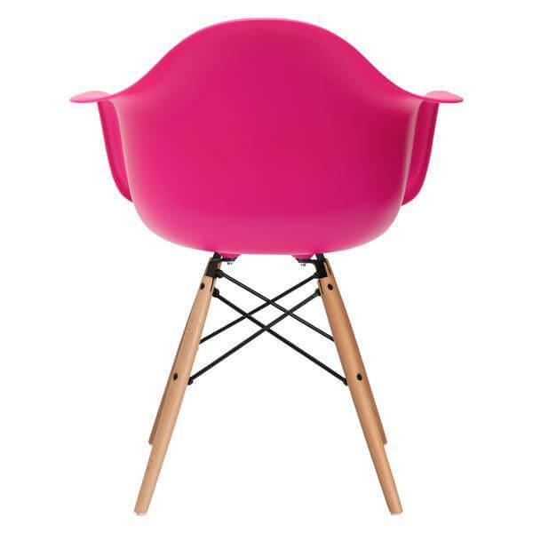 pink modern armchair