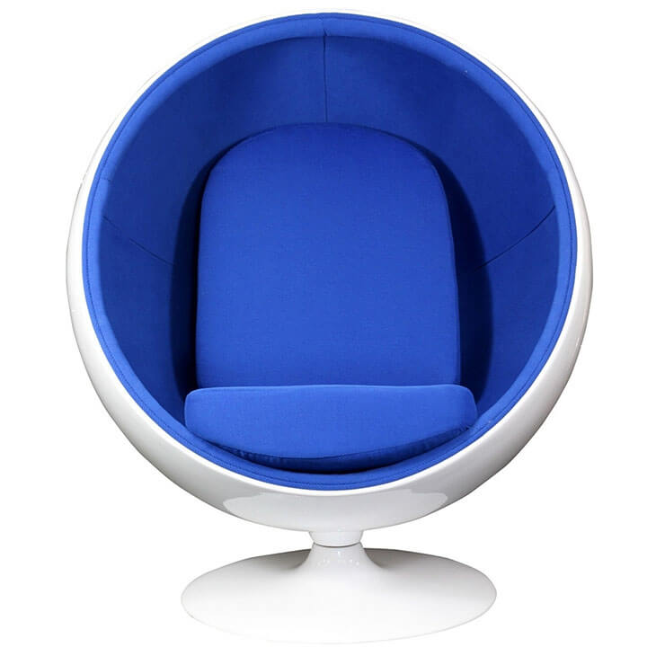 private space ball chair blue 2