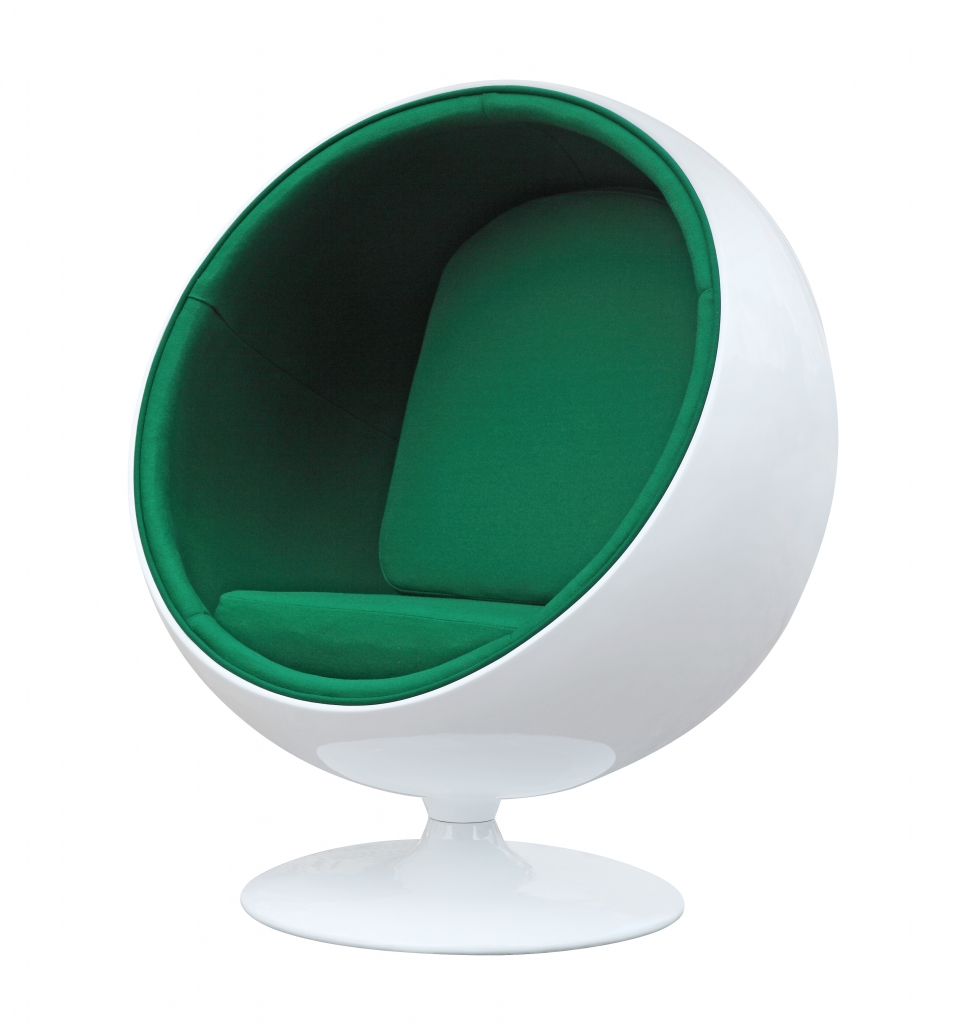 private space ball chair green 2