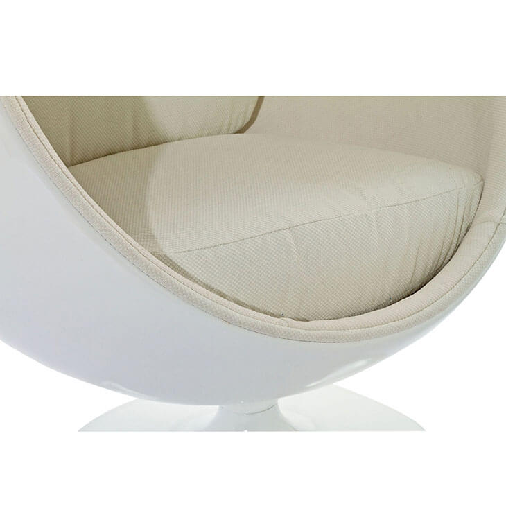 private space ball chair white 3