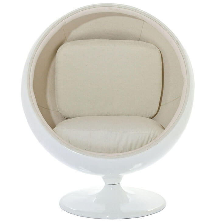 private space ball chair white