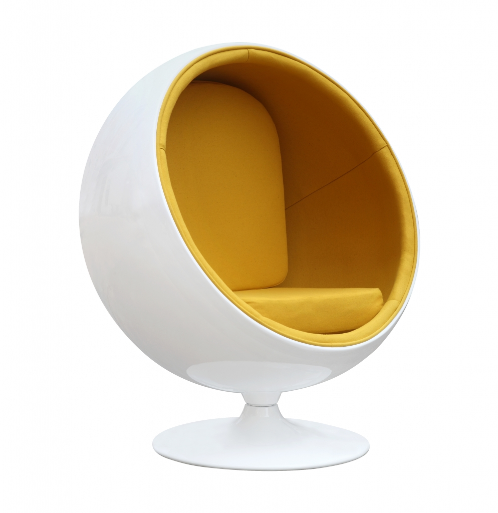 private space ball chair yellow 4